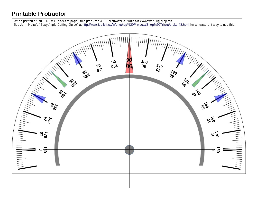 graphic regarding Protractor Printable Pdf called Printable Protractor » linear thoughts