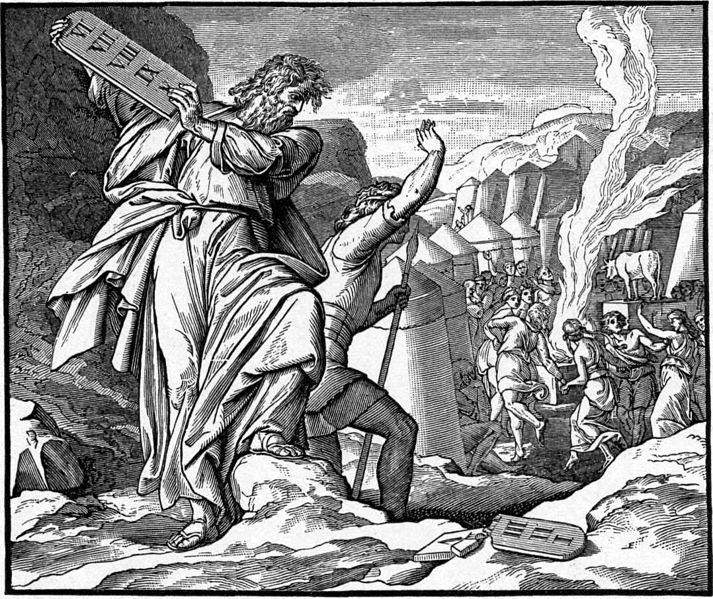 Moses Breaks Ten Commandments